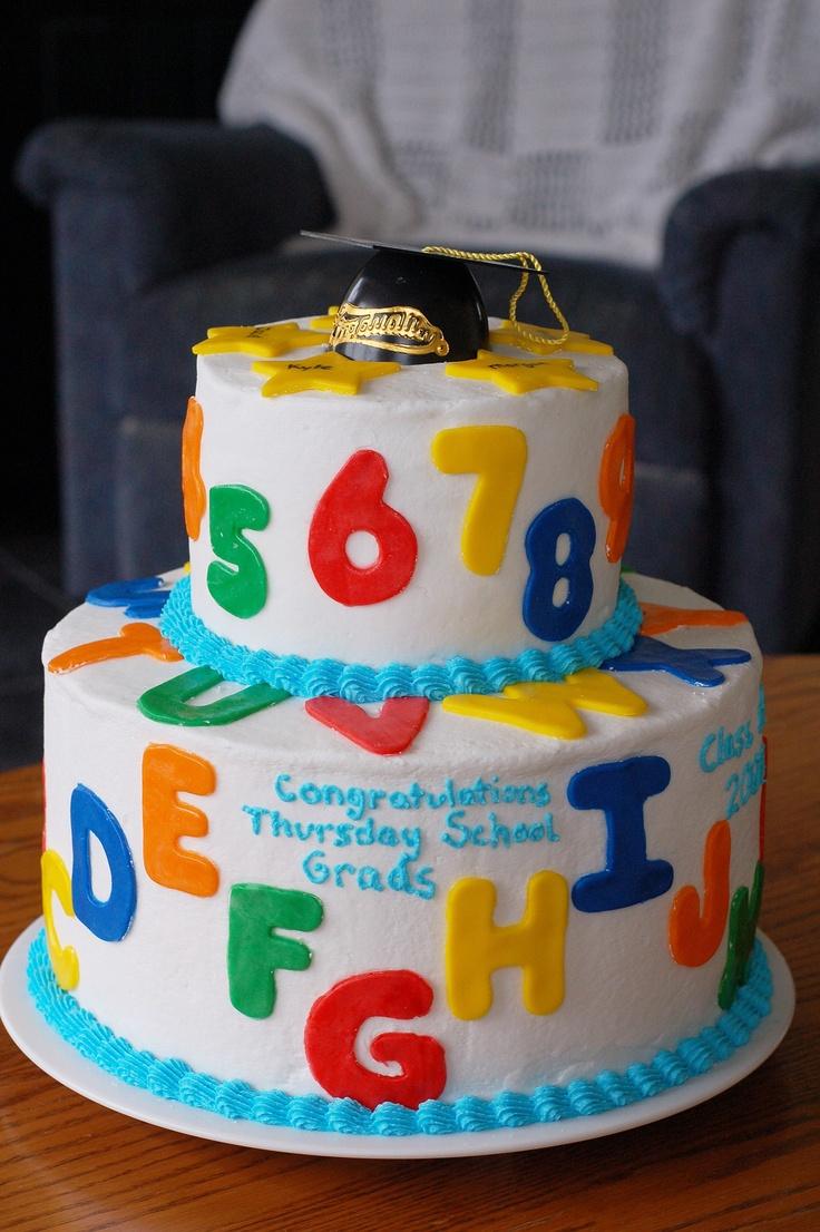 Preschool Graduation Cake Fondant Cakes Pinterest ...