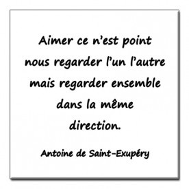 Magnet Antoine de Saint Exupery To love is not to look at one another:it is to look together, in the same direction.