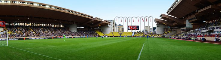 Stade Louis II - Monaco  Built in 1985 on reclaimed land from the sea most facilities including a carpark are incorporated underneath the pitch.  At a capcity of 18500 Stade Louis II can also famously claim that it can host 50% of it's country's population.