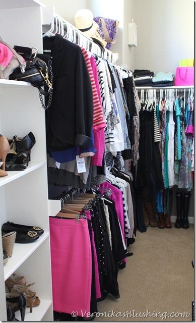 "my organized closet! paint color is Martha Stewart ""flagstone"" www.veronikasblushing.com"