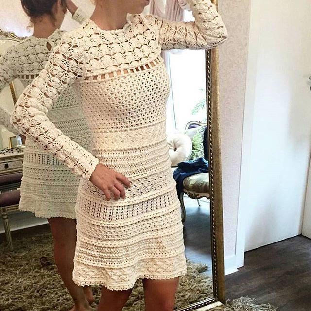 ❤ Cold but Cool ❤ Vestido Teneriff #VanessaMontoroStyle #VanessaMontoroCrochet…