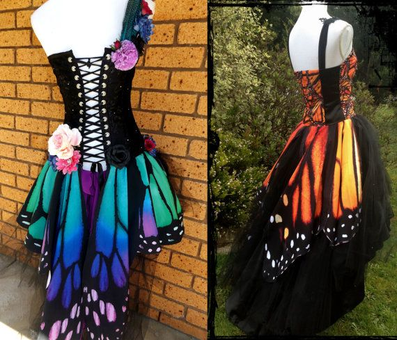 Lady Moon Designs. https://www.facebook.com/Lady-Moon-Designs-91806628214/  One of a Kind Butterfly Wing Wedding or Ball Gown.  Custom made for