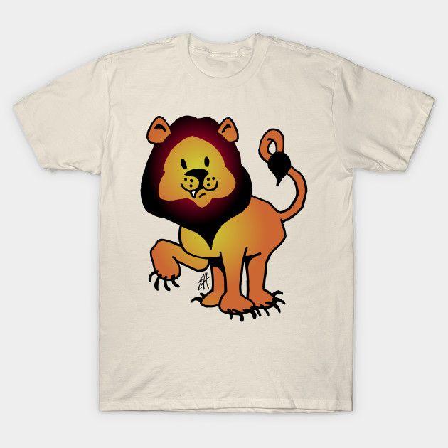 Lion T-shirt.    #lion #Tshirt #Teepublic #Cardvibes #Tekenaartje