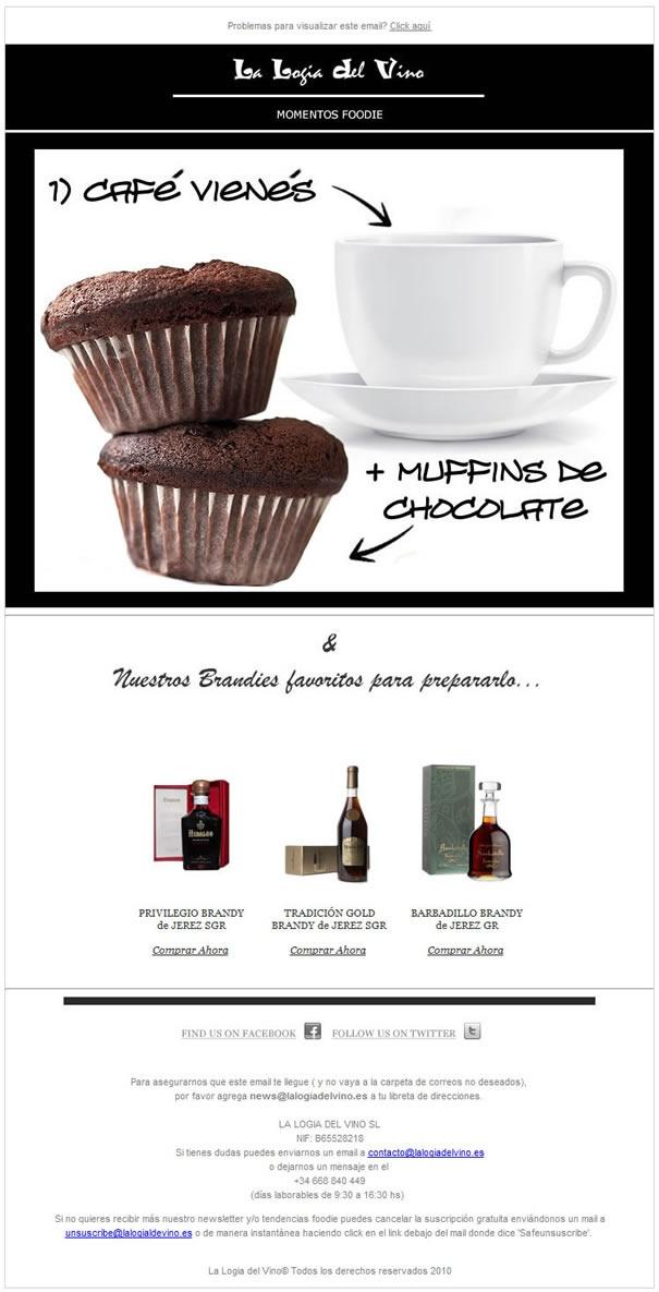 Café vienés + Muffins de chocolate