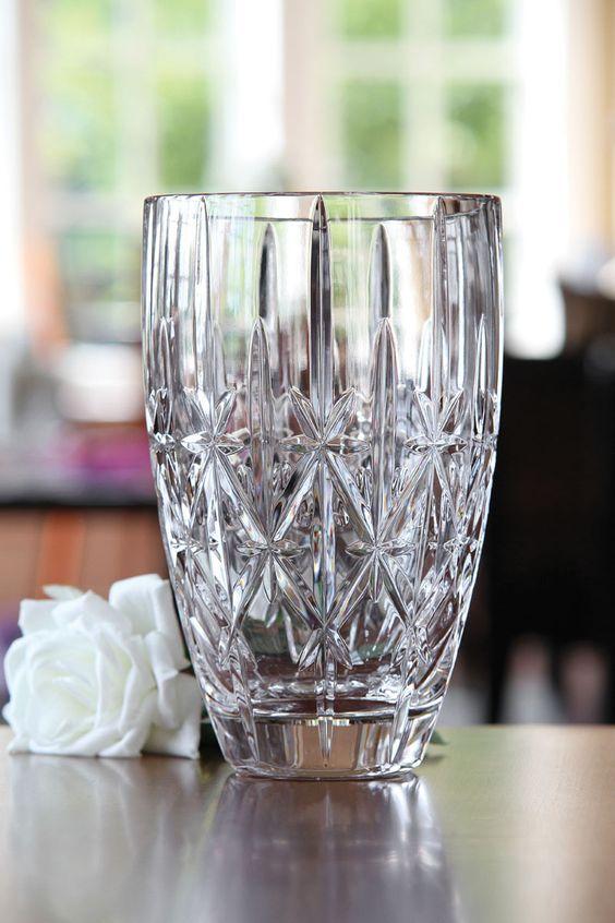 Marquis By Waterford Sparkle Vase 9in Crystal Glassware Waterford Vase