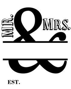 Printed Burlap Mr. & Mrs. Framed Art