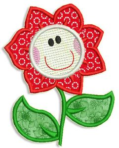 This free embroidery design is a flower.  Thanks to Adorable Applique for posting it.