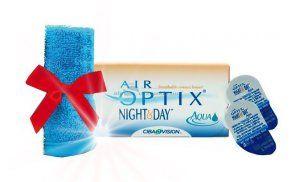 Soczewki kontaktowe AirOptix Night & Day Aqua 3 szt. - soczewki miesięczne, sferyczne