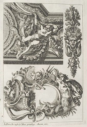 Following some print links led me once again to the University of Heidelberg and a collection of engravings by Jean Le Pautre (1618–1682), the grandly-titled Oeuvres D'Architecture De Jean Le Pautr...