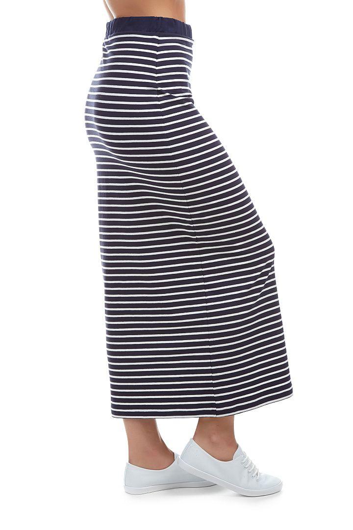 9d5b3a6daf4 Pruhovaná sukně - ZITA   modrá a bílá