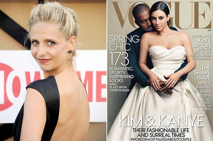 "I knew I loved SMG :) Sarah Michelle Gellar Slams Kim Kardashian's Vogue Cover: ""I'm Canceling My Vogue Subscription"""