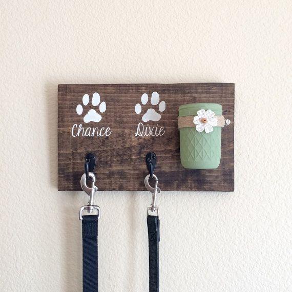 Dog Leash HolderDog Treat HolderDog Leash SignDog by DodsonDecor