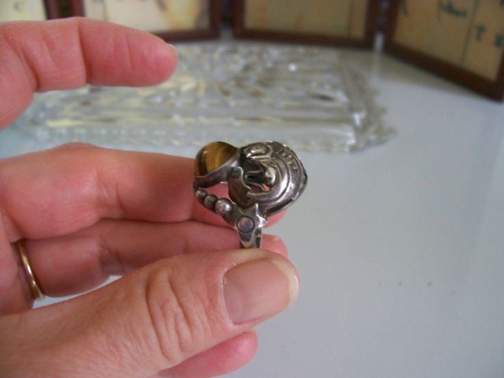 Details about vintage danish modernist sterling silver koi for Koi fish ring