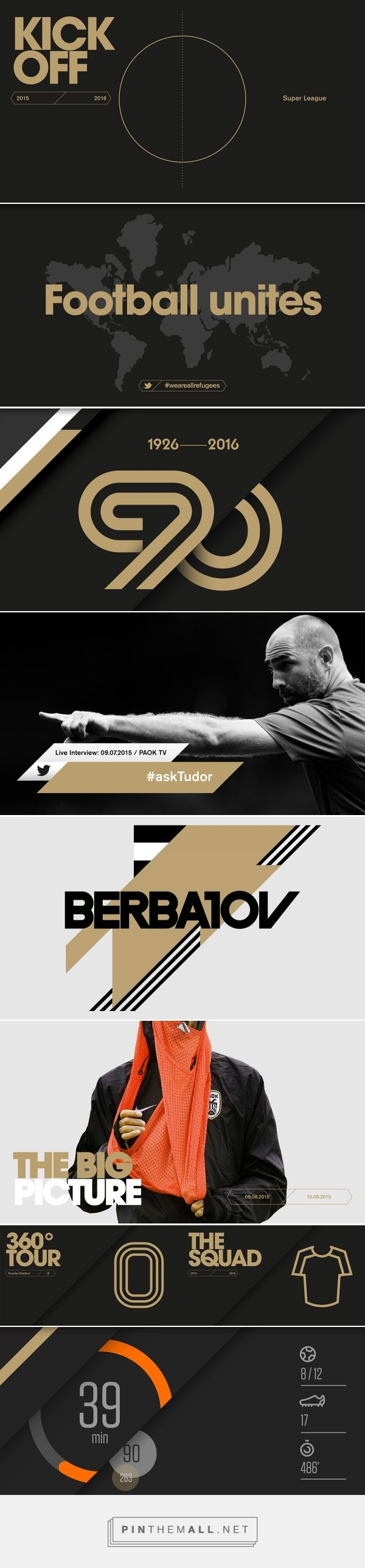 PAOK FC / The visual language of football on Branding Served - created via https://pinthemall.net
