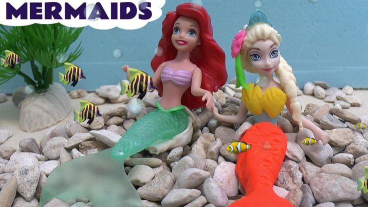 Mermaid Frozen Stories Play Doh Thomas Train Barbie Princess Ariel Surpr... Mermaids everywhere. Queen Elsa and Princess Anna become mermaids for a day, Barbie becomes a mermaid, some mermaids are opening surprise eggs, some riding Play Doh Thomas fishes. #mermaid   #thelittlemermaid   #littlemermaid   #princess   #disney   #surpriseeggs   #playdoh   #story   #toys   #barbie