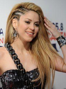 Shakira's Hairstyle with Cornrow Braids