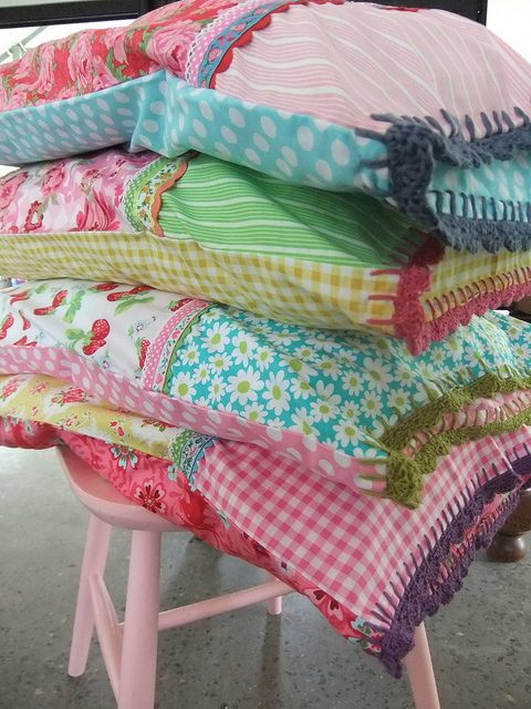 Make your own pretty pillowcases.