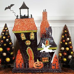 lighted little haunted house - Haunted House Halloween Decorations