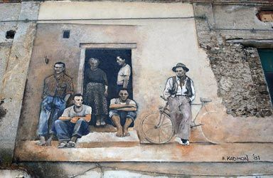 DIAMANTE, Cosenza, Calabria. A very important cultural town known as the city of murals, Diamante has been defined by important poets and men of letters as the 'pearl of Tyrrhenian Sea'.