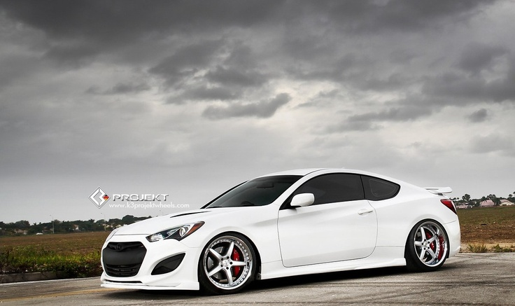 Hyundai Genesis Coupe White Modified by K3 Projekt