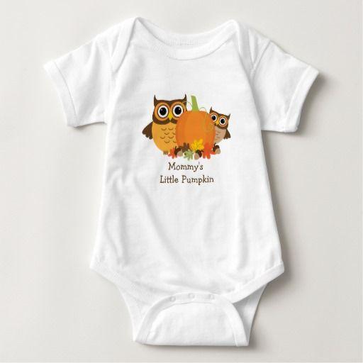 Mommy's Little Pumpkin Cute Owls and Pumpkin Baby Bodysuit
