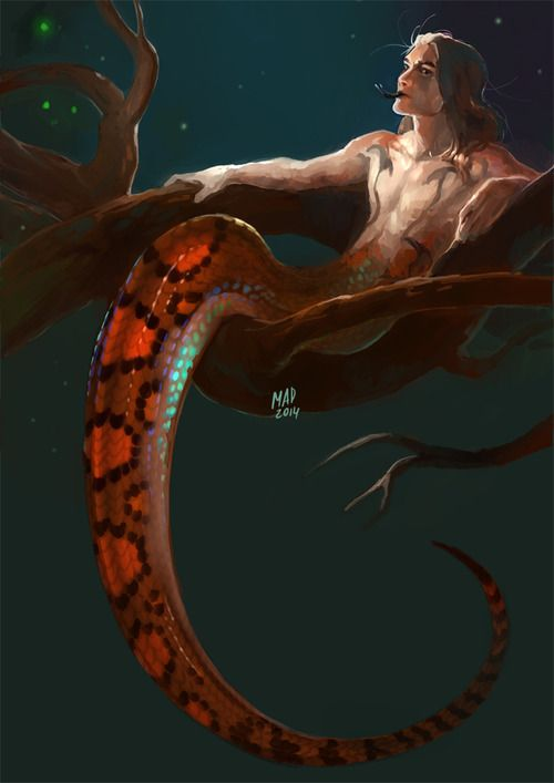 madnessdemon:   30 Day Monster boy Challenge, number 4: Naga Epicrates cenchria used as reference.