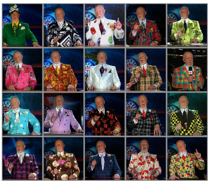 The many suits of Canadian hockey commentator Don Cherry -