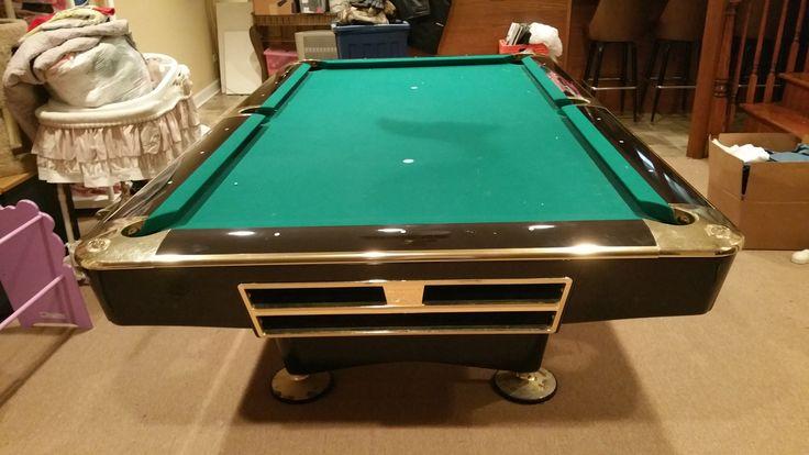 Brunswick Billiards Black Gold Crown Pro 8 Pockets Sold