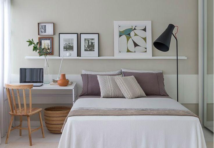 Decoracao simples para quarto pequeno. Home office ou penteadeura. Pequenos apartamentos, grandes soluções