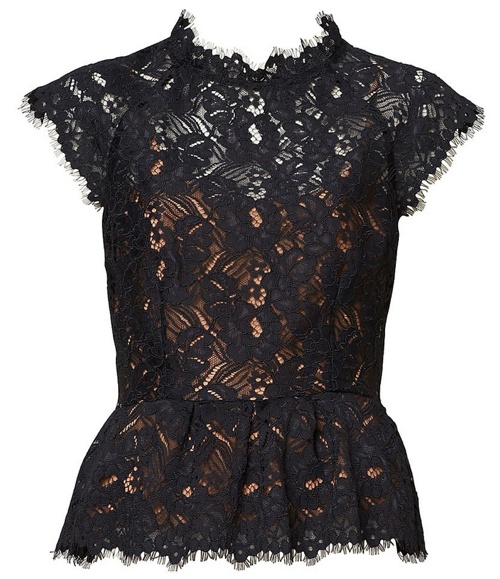 Witchery lace peplum top