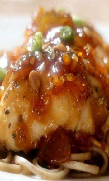Baked Halibut with Orange Sauce