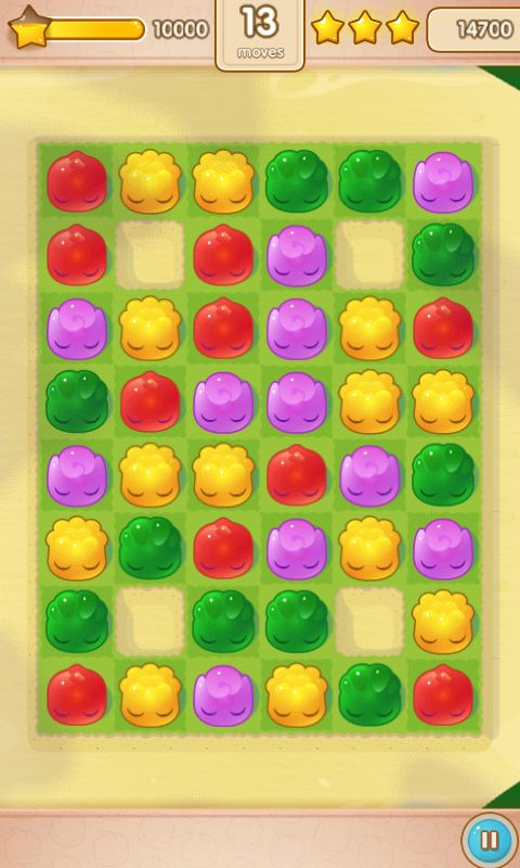 Jelly Splash by Wooga - Action Phase / Score Based  - Match 3 Game - iOS Game - Android Game - UI - Game Interface - Game HUD - Game Art