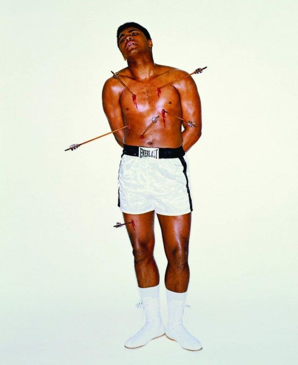 muhammad ali with arrows | Muhammad Ali as The Patron Saint of Sports
