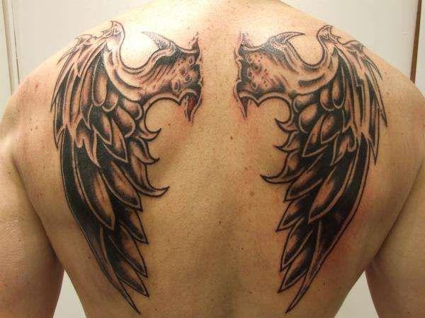 demon wing tattoo designs for men demon wings pinterest tattoo designs tattoo and tatting. Black Bedroom Furniture Sets. Home Design Ideas