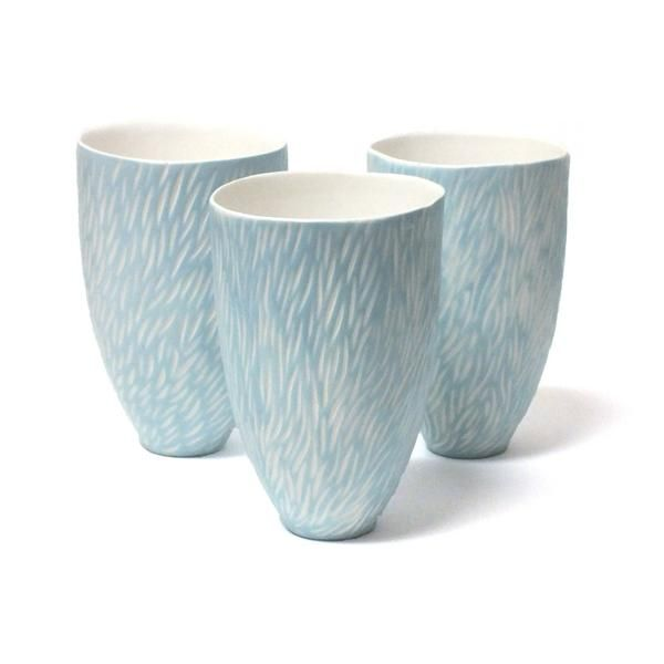 Blue and White Carved Vase by Kate McIntyre