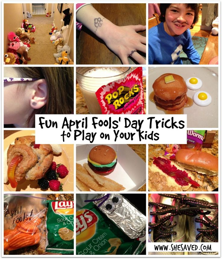 April Fools Day Tricks from She Saved.
