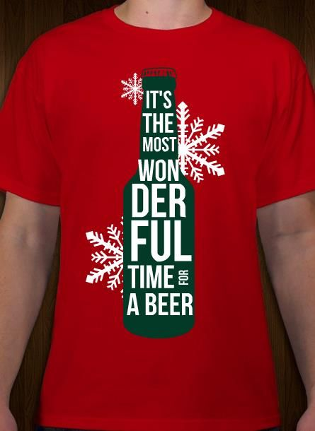 96dfe440b Christmas beer t-shirt design idea and template. Customize online with free  10-day shipping in the U.S.