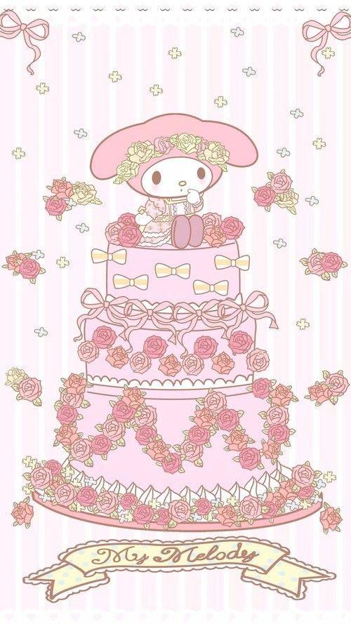 My Melody (*^o^*) wedding cake
