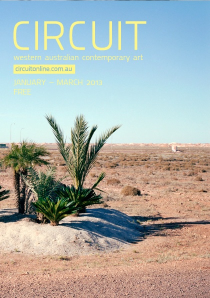 JAN MAR 2013 Cover - JAN-MAR 2013 COVER Kristian Haggblom, Viewing Platforms: Coober Pedy (Semi Oasis) (2011)  archival pigment print  Courtesy of the artist and Perth Center for Photography