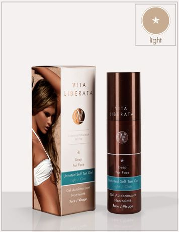 Deep Silken Touch: Face. Untinted Self Tan Gel Light Face | Vita Liberata