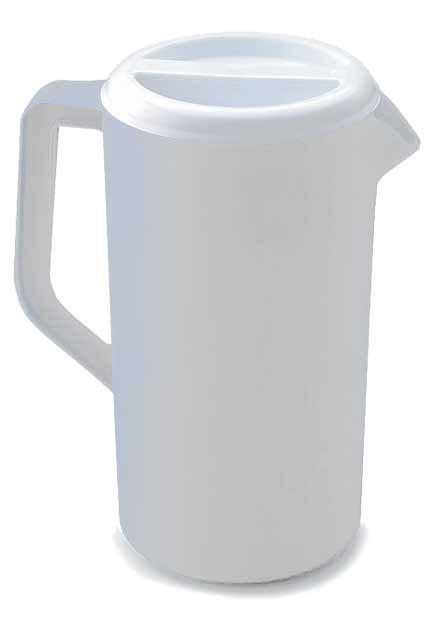 Pichet à jus blanc avec couvercle