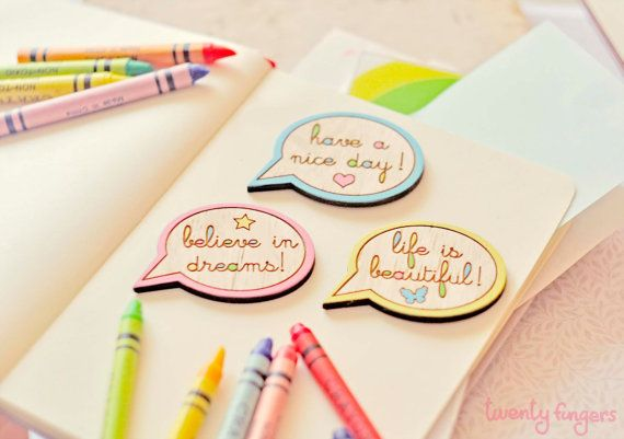 Funny magnets with funny phrases  Set of 3 di TheTwentyFingers, $14.00