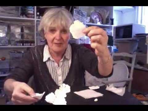 How to make papier-mache 'flowers'