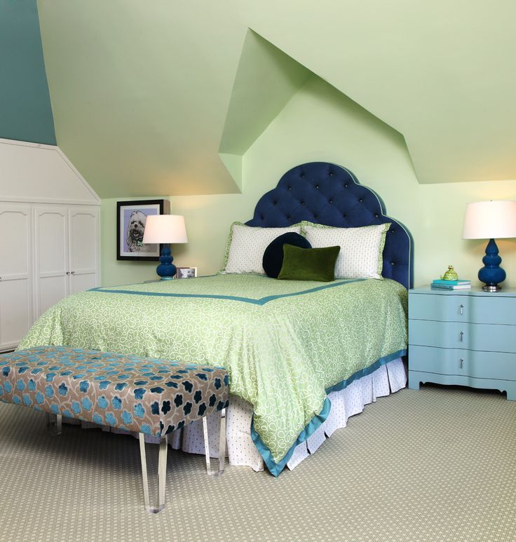 Blue And Lime Green Color Scheme Bedroom Design Ideas