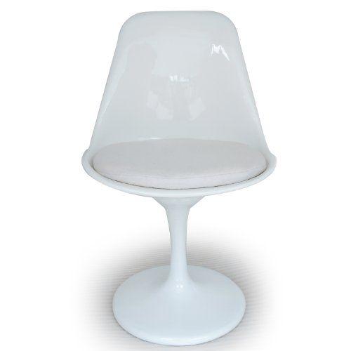 Kardiel Tulip Style Side Chair White Fiberglass, White Cashmere Wool Kardiel http://www.amazon.com/dp/B008E9A0KE/ref=cm_sw_r_pi_dp_gCcTtb06CR3Y6PA7