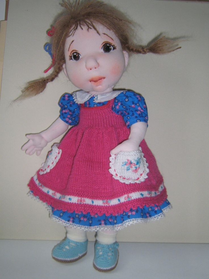 """Beatiful CLARA is a 18""""OOAK soft scuptured doll. The doll is made of soft, good quality fabrics and yarns.https://www.etsy.com/shop/InaBoutiqueHandmade…"""