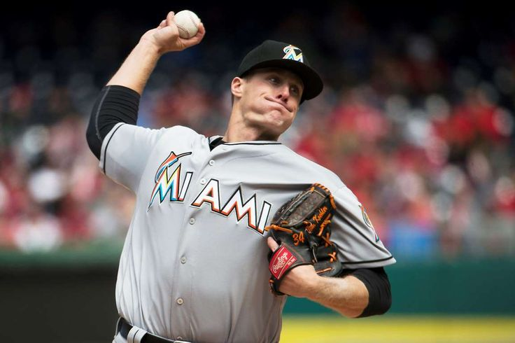 Koehler shows his power:    Miami Marlins starting pitcher Tom Koehler delivers during the fifth inning against the Washington Nationals at Nationals Park in Washington, D.C., on April 10.   -        © Evan Vucci/AP Photo