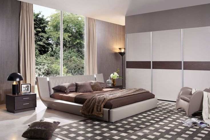 Denmark - Modern Bed With Speakers Iphone Audio Dock and Lights