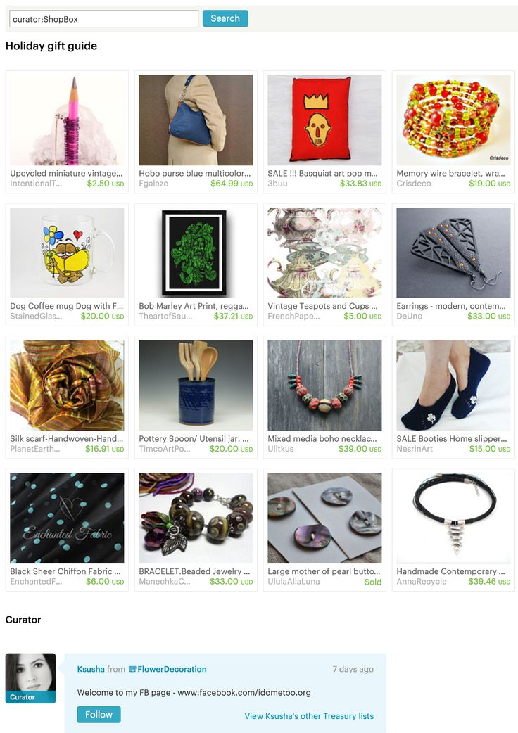 Holiday #gift guide - #Etsy Treasury by FlowerDecoration