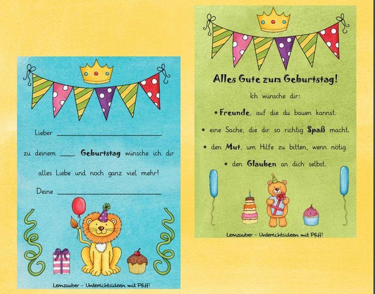 Geburtstag Grundschule